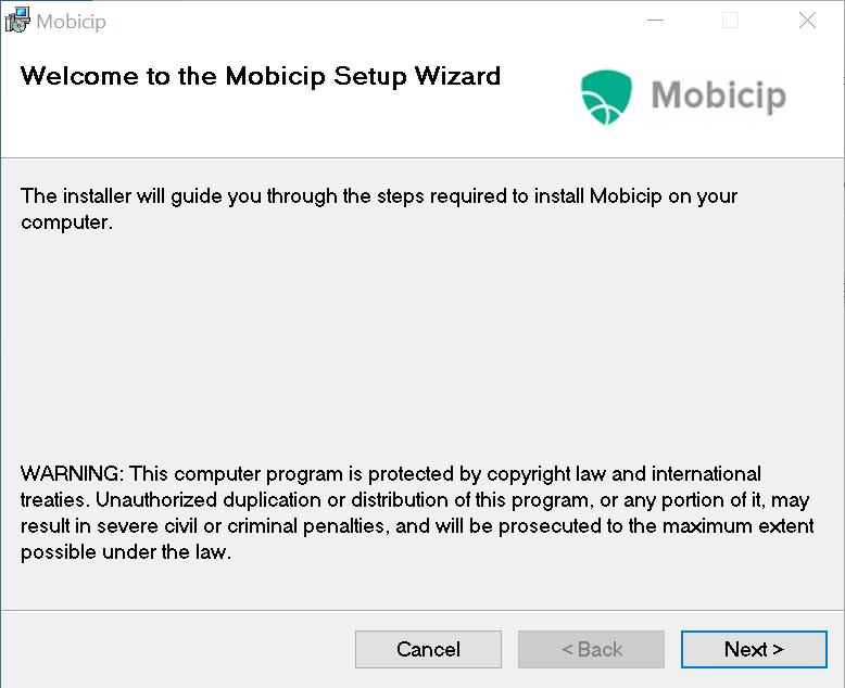 Mobicip setup wizard