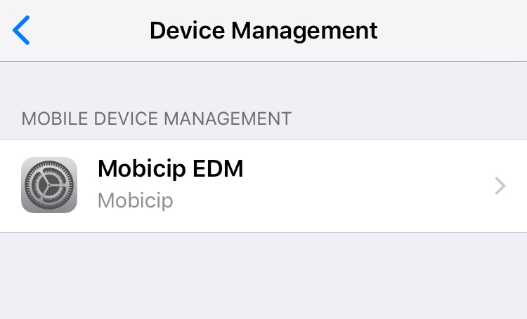 Mobicip's MDM is now installed