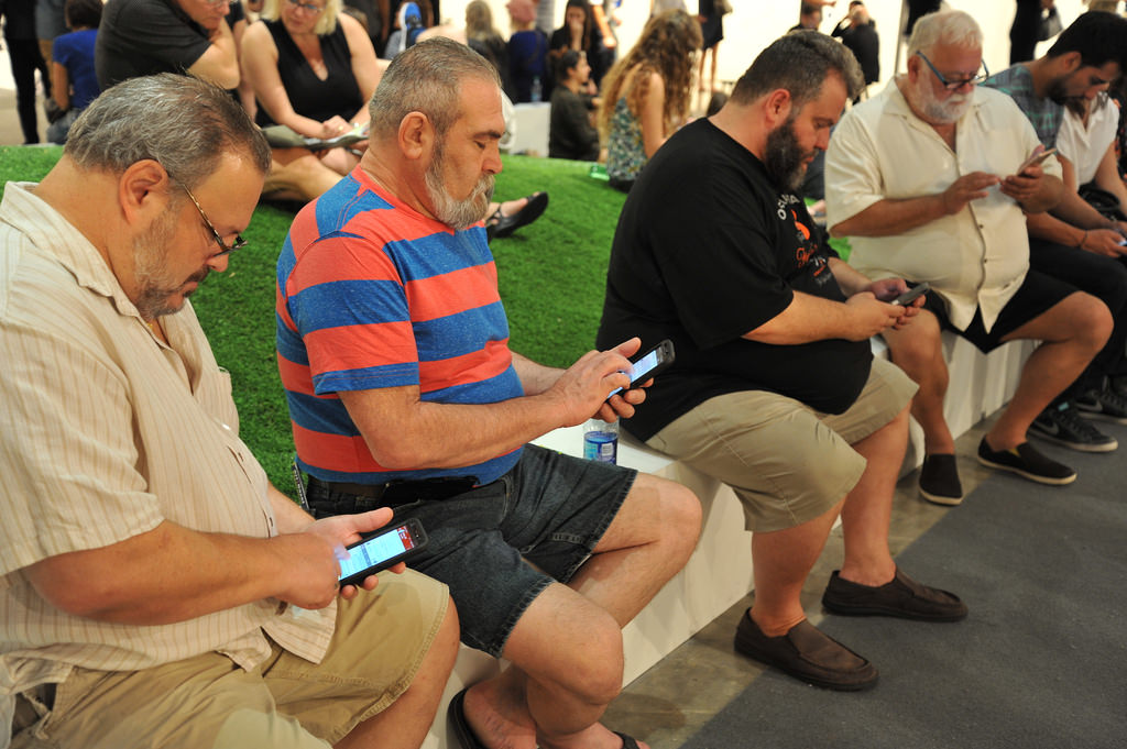 Old Men With Slim Phones and Beards