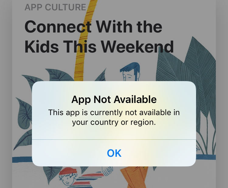 Mobicip parental control app not available in your country or region