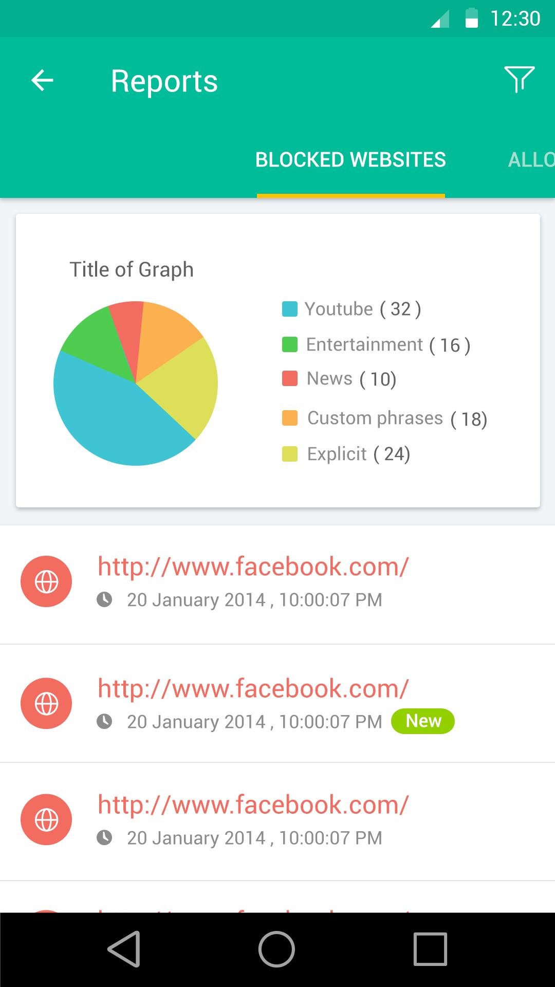 Android Monitor app screenshots