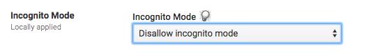 Disallow incognito mode screenshot