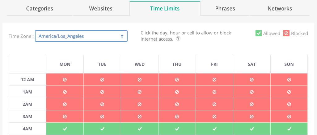 Time Limits Screenshot