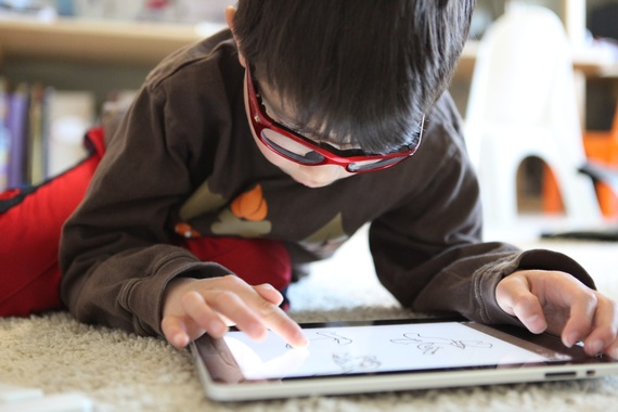 Special needs kids learning with technology