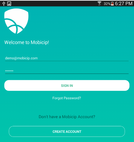 login to your Mobicip account