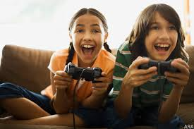 Kids on gaming consoles
