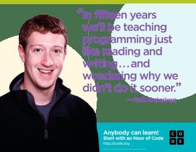 Mark Zuckerberg endorsing computer science education